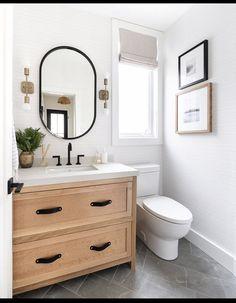 Bad Inspiration, Bathroom Inspiration, Bathroom Renos, Small Bathroom, Bathroom Ideas, Bathroom Inspo, Dream Bathrooms, Bathroom Sconces, Basement Bathroom