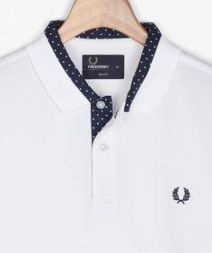 Polka Dot Trim Shirt
