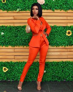 Selorm Galley Step Out In Stunning Red Trouser And Shirt Red Trousers, Pants, Family Kitchen, Kitchen Recipes, Dinner Recipes, Jumpsuit, Style Inspiration, Cooking, Celebrities