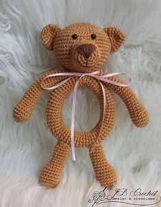 Ravelry: Baby rattle Eddy the Teddy pattern by JB Crochet