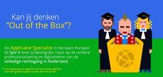 Een rol spelen bij de digitalisering van de rechtsgang in Nederland? Dan is dit jouw uitdaging! Check: https://www.epeople.nl/web/applicatiespecialist-portalen-utrecht//?utm_source=pinterest&utm_medium=vacature&utm_campaign=spir-it
