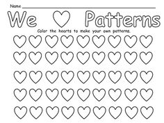FREE Valentine's Day Patterns Practice Page for Kindergarten