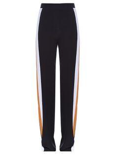 Contrast-side wide-leg trousers  | Stella McCartney | MATCHESFASHION.COM US