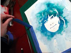 Turn a photo into a watercolor stencil portrait. | 33 Incredible Things You Can Do With Your Family Photos
