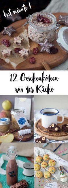 12 last minute Geschenkideen aus der Küche - schnell gemacht und lecker! Mitbringel in der Advents- und Weihnachtszeit. Rezeptideen zum Verschenken
