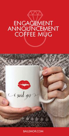 Just engaged? Show off your new diamond ring with this I said yes coffee mug. This engagement mug is a perfect gift for that newly engaged bride to be to let everyone know that he put a ring on it. Officially off the market mug Engagement Mugs, Engagement Couple, Wedding Tips, Diy Wedding, Wedding Venues, I Said Yes, Just Engaged, Wedding Venue Inspiration, Space Wedding
