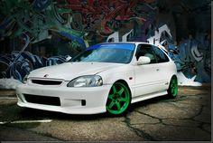 Ek9 + Takata Green TE87's = Glorious