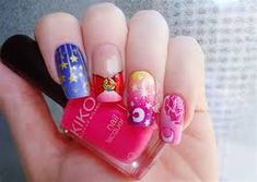 Image result for sailor moon nails Sailor Moon Nails, Floral, Flowers, Image, Florals, Florals, Flower, Flower, Bloemen