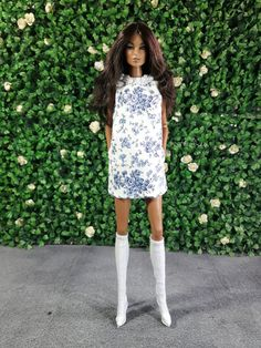 SPRING IN BLUE Look 1 Fashion for Fr2 Barbie Silkstone