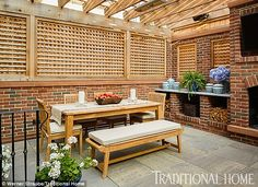 Outdoor dining area: The Going Off Script author will also enjoy eating with her family on...