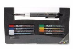 lapiseira pentel multi 8 lead holder- 8 cores- 2mm - ph802st