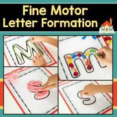 Fine Motor Letter Formation Practice Mats