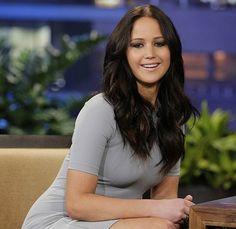 Jennifer Lawrence. I want her brunette hair color.