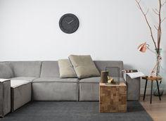 Zuiver Zuiver Hoekbank James 4-Zits - B203/289 x D91 x H74 cm - Rib Cool Grey