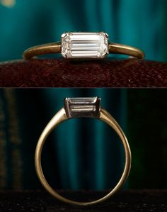 Would love this in sapphire and matt silver. Baguette cut placed landscape is probably my favourite style ring.