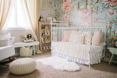 Tour the Sweetest Vintage Nursery for a Baby Girl - our house: nursery inspiration,