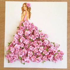Floral fashion illustration