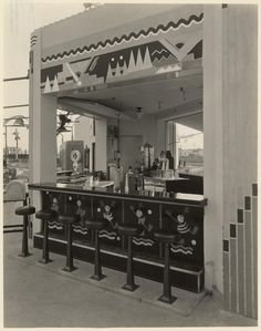deco snak bar at 1928 mini golf Wilshire Links Los Angeles, owned by Mary Pickford