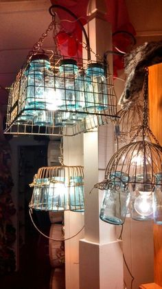 Restock just added these amazing ball jar chandeliers!: