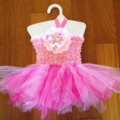 Tutu Dress - Light Pink & Dark Pink for baby