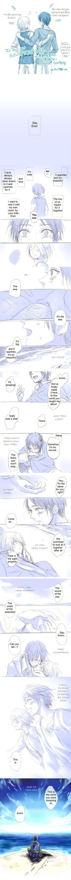 """Attack on Titan- The Sea - """" was i the only one who was so CLOSE to crying? """""""