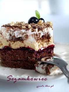 Sezamkowiec Polish Desserts, Polish Recipes, Cookie Desserts, Slovak Recipes, Homemade Cakes, Pretty Cakes, My Favorite Food, Delicious Desserts, Cake Recipes