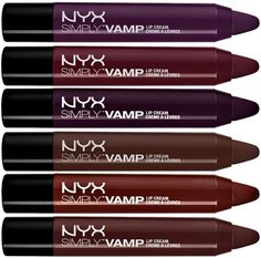 NYX Simply Vamp Lip Cream for Fall 2014.    I want these sooo much!!!