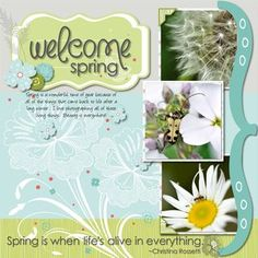 Welcome Spring #Digital #Scrapbooking Layout from Creative Memories    http://www.creativememories.com