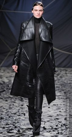 Fall 2012 Trend Reports  head to toe leather  gareth pugh