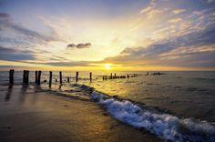 Stawa Młyny | Piękny zachód słońca na klifach nad Bałtykiem