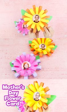 Make a gorgeous Photo Flower Card with the kids for mom this Mothers Day. Our photo flower is a really easy card to mak Mothers Day Crafts For Kids, Paper Crafts For Kids, Easy Crafts For Kids, Preschool Crafts, Diy For Kids, Mothers Day Cards Craft, Flower Crafts Kids, Diy Mother's Day Crafts, Yarn Crafts