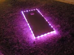 Pro-Glow Cornhole Lights! Illuminates 6ft of lights in 3-2ft sections w/ 60+ hrs of Cornhole Luminocity !! (3AA battery life). Comes as a pair for both boards (1 each). Easily attach and re-arrange for custom combinations or remove for storage w/ the velcro mounts. Designed for standard boards (2'x4') bare wood/ sealed/ wrapped/ plastic Red, Blue, Green, Gold, White, Pink are solid (on/off) & Disco flashes and dances with all colors.