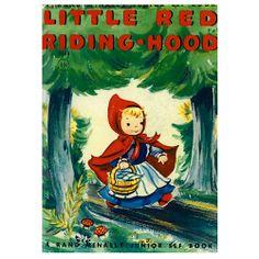 Little Red Riding Hood A3 Print by Retro Kids on POP.COM.AU