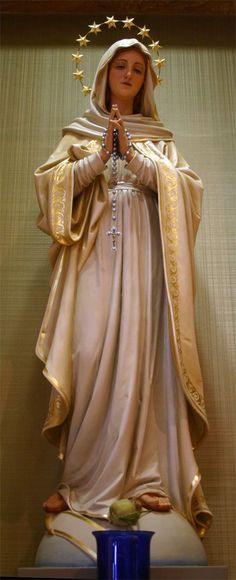 Day 9 Novena to Our Lady of Fatima - Catholic Prayers, Catholic Art, Catholic Saints, Blessed Mother Mary, Blessed Virgin Mary, Image Jesus, La Salette, Virgin Mary Statue, Lady Of Fatima