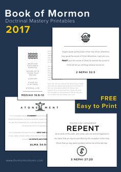 Book of Mormon Doctrinal Mastery 2017   THE MORMON HOME THE MORMON HOME   Bloglovin'