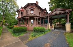 Orrin W. Burritt Mansion ---National Register of Historic Places: #07000864, This beauty is actually for sale!
