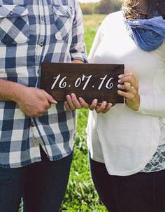 Wooden Wedding Date Sign by CaitAndMelMakeThings on Etsy