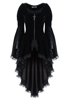 épinglé par ❃❀CM❁✿⊱Gothic Noble Velvet Cocktail Jacket by Dark in Love. Stunning black velvet jacket trimmed with black lace. Gothic Outfits, Gothic Dress, Lolita Dress, Alternative Mode, Alternative Fashion, Cool Outfits, Fashion Outfits, Fashion Tips, Fashion Clothes