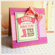 kartka na wieczór panieński scrapbooking cards card for a girl