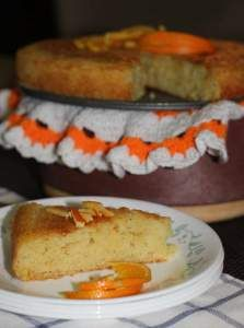 Eggless Orange Semolina Cake