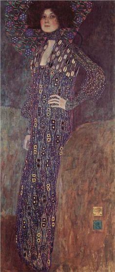 Gustav Klimt - Portrait of Emilie Flöge, 1902