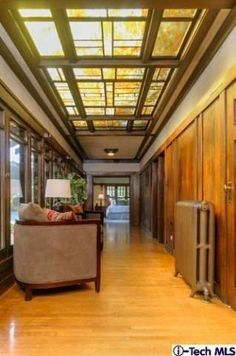Interior of Crow-Crocker House (1909), built by Greene & Greene #craftsman   This house just went on the market for the first time in 55 years for $3,400,000