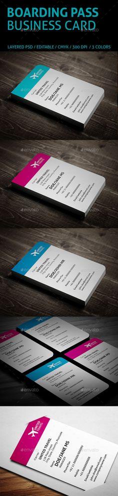 Creative Boarding Pass Business Card Tempalte #design Download: http://graphicriver.net/item/creative-boarding-pass-business-card/9687840?ref=ksioks
