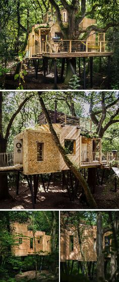 Guy Mallinson Woodland Workshop together with Keith Brownlie from BEaM have designed The Woodman's Treehouse