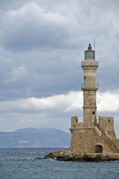Leuchtturm Chania, Kreta, Griechenland