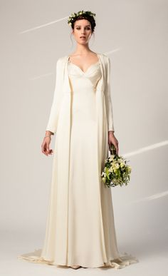 Celine Dress worn with Julianna Coat from the Temperley Bridal Iris Collection