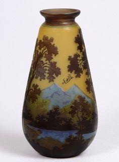 Émile Gallé | Cameo Glass vase - 1900. Emile GalléMore Pins Like This At FOSTERGINGER @ Pinterest