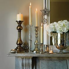 Buy Home Accessories > Candle Holders > Star Glass Hurricane from The White Company
