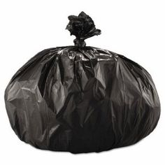 Boardwalk 60 Gallon Black Garbage Bags, 43x47, 2.0mil, 100 Bags (BWK 522)