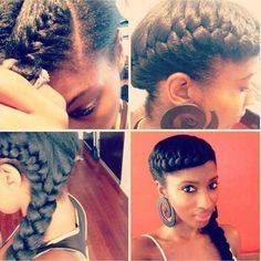 Such a cute protective style. Adding a braid to your look adds some texture and helps contain your strands. #StyleInspiration